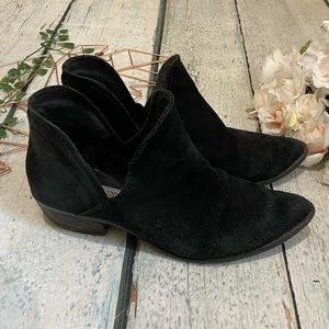 Steve Madden 9.5M black suede ankle boots Austin